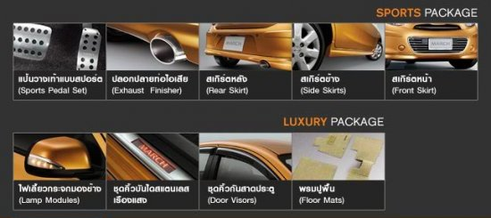 Nissan Eco Car Nissan March at Soni Motors Thailand Accessoires available now
