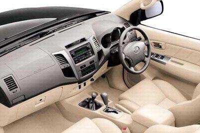 Toyota Fortuner India Interior