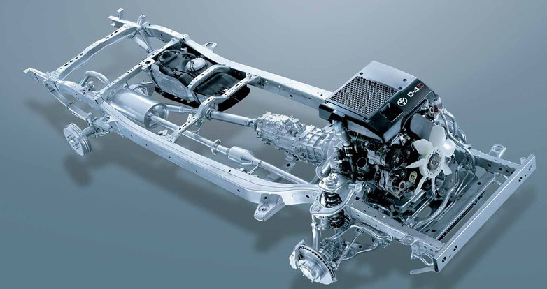 Toyota Hilux Vigo and Toyota Fortuner 's chassis frame called Toyota ...